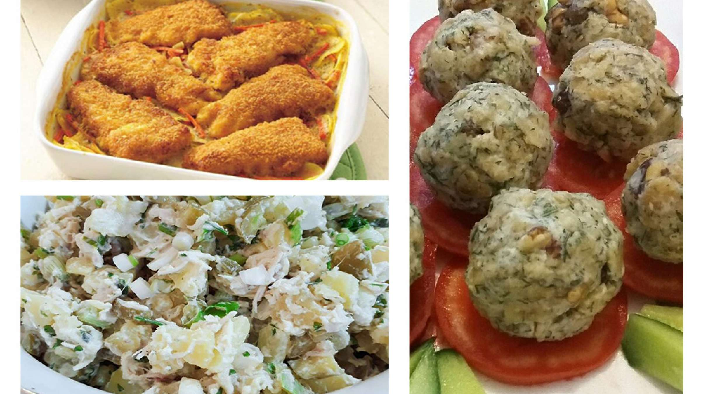 آشپزی-ترابی-لقمه-های-دویماج-گراتن-سیب-زمینی-با-ماهی-سالاد-مرغ-ترکیه-ای