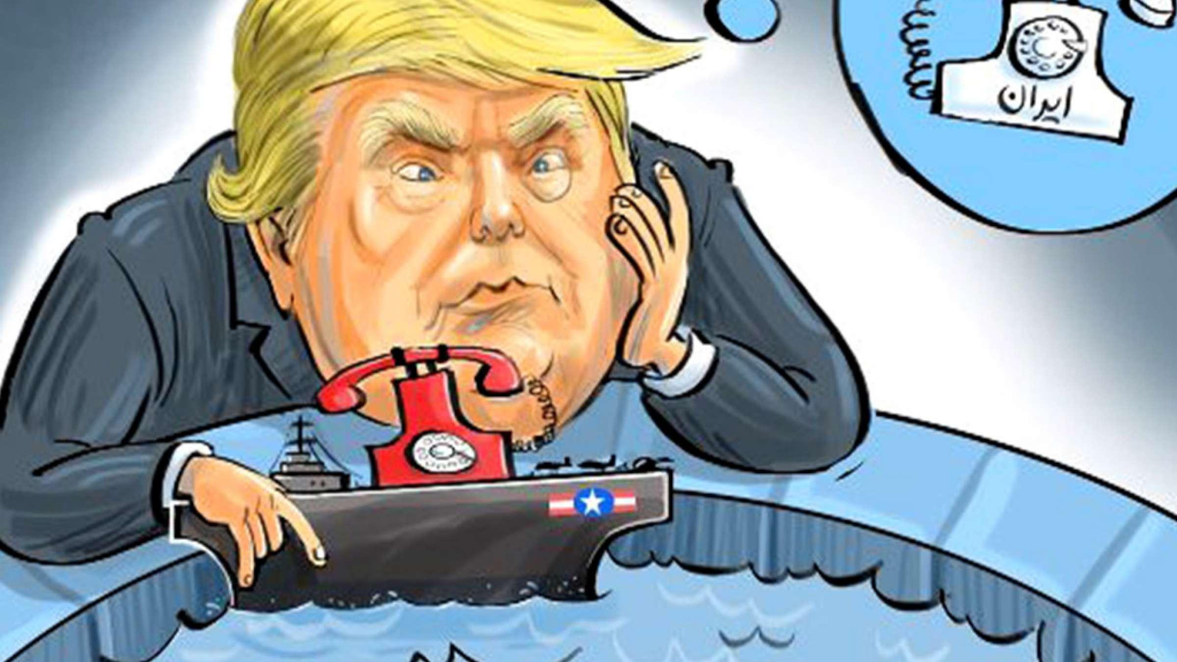 ترامپ-در-انتظار-تلفن-فضول-طنز