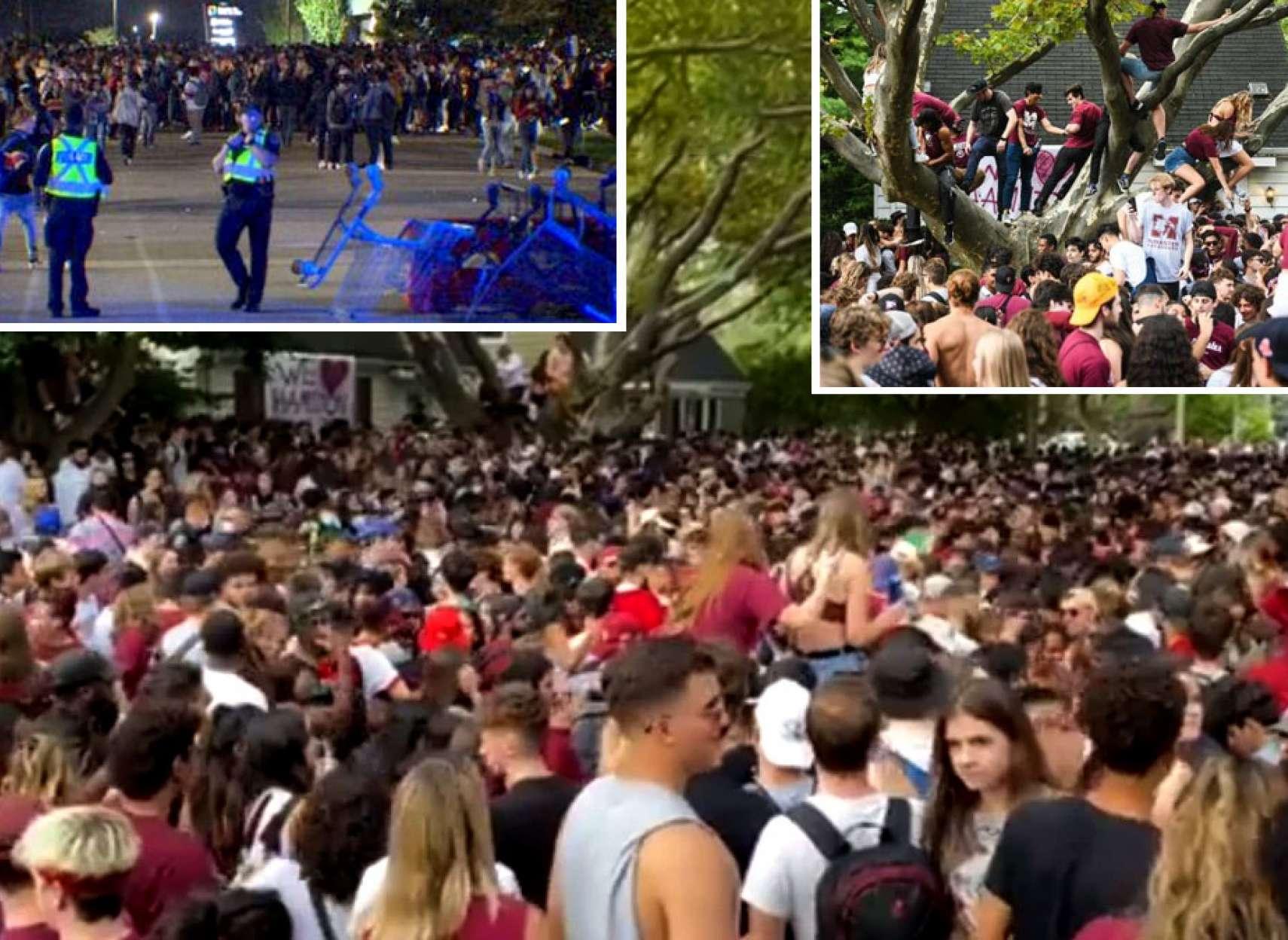 خبر-کانادا-غوغا-در-همیلتون-با-پارتی-خیابانی-هزاران-دانشجو-چپ-کردن-خودرو-و-حضور-پلیس