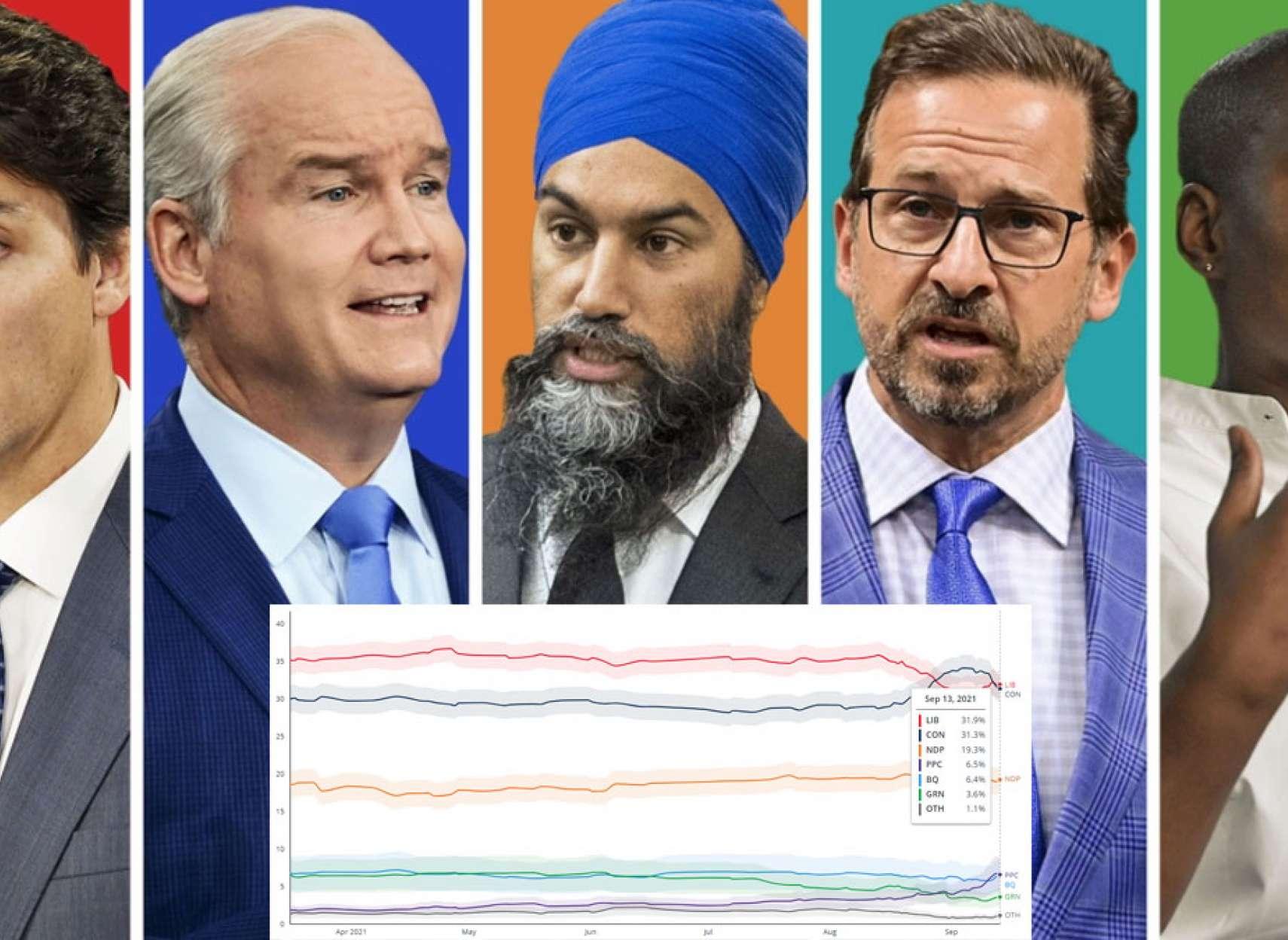 خبر-کانادا-یک-هفته-به-انتخابات-لیبرال-ها-دوباره-از-محافظه-کاران-جلو-زدند؛-ایرانی-ها-روی-لبه-تیغ