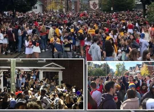 خبر-تورنتو-پارتی-۸۰۰۰-دانشجو-در-کینگستون-همراه-با-پرتاب-پرتابه-یک-پلیس-زخمی-بجا-گذاشت